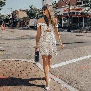Capri Knotted Cutout Mini Dress size S